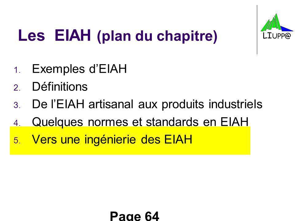 Les EIAH (plan du chapitre)