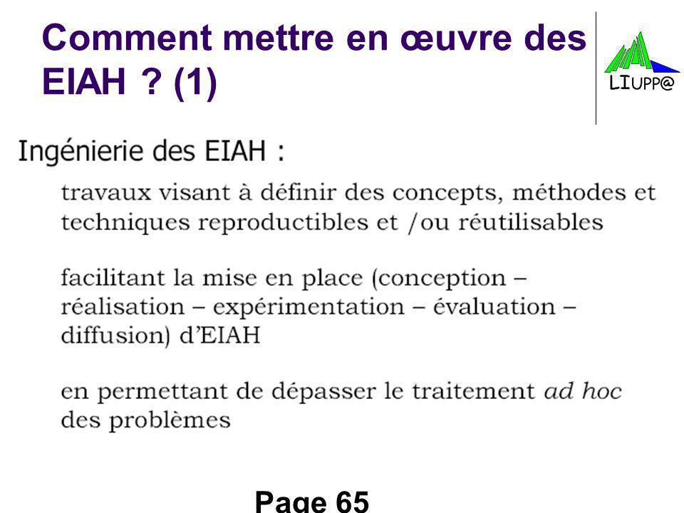 Comment mettre en œuvre des EIAH (1)