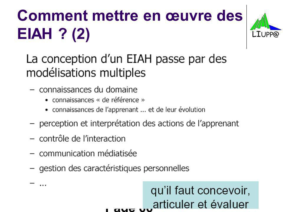 Comment mettre en œuvre des EIAH (2)
