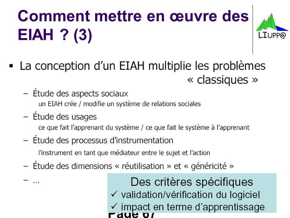Comment mettre en œuvre des EIAH (3)