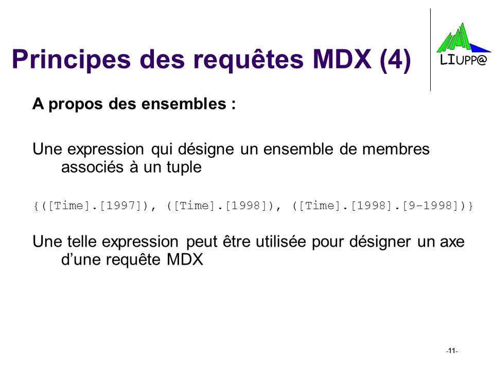 Principes des requêtes MDX (4)
