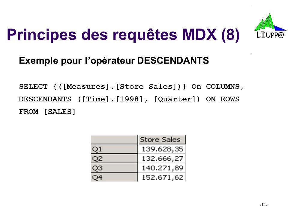 Principes des requêtes MDX (8)