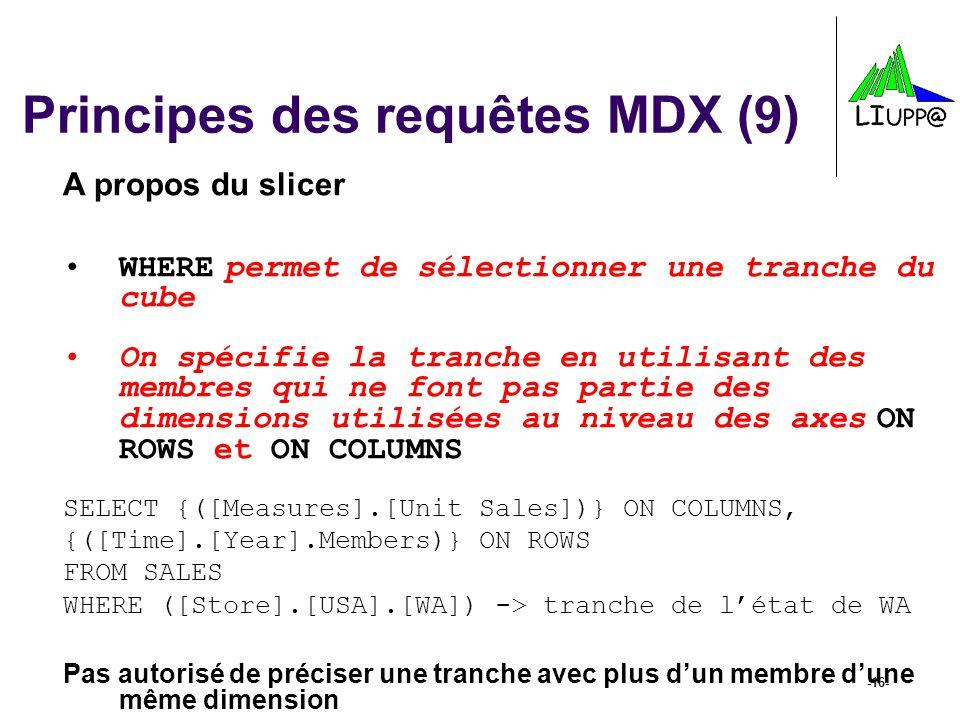 Principes des requêtes MDX (9)