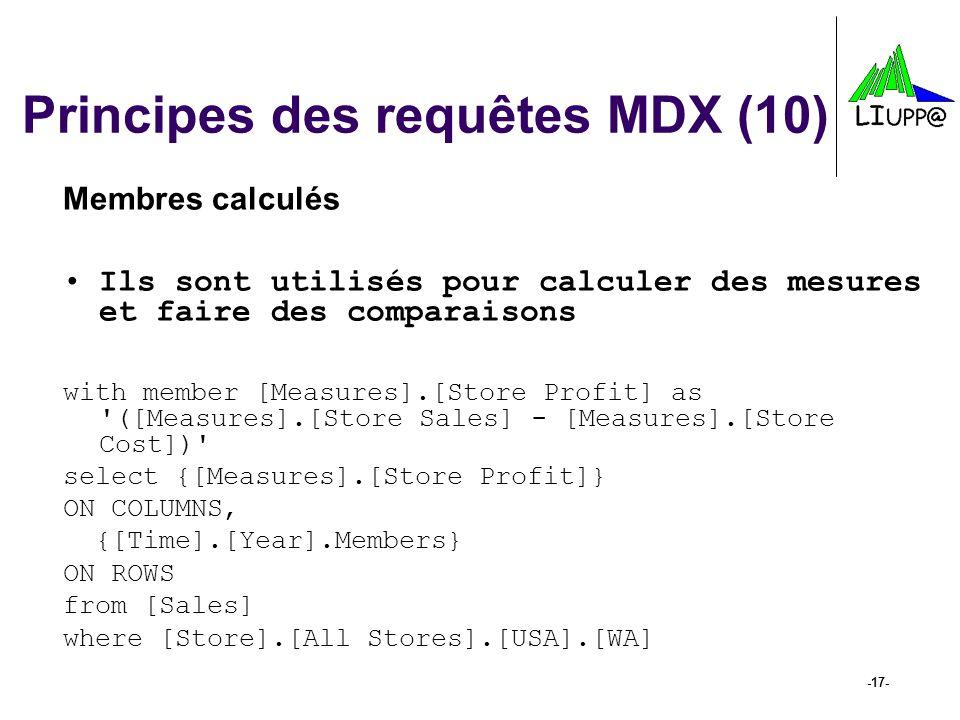 Principes des requêtes MDX (10)
