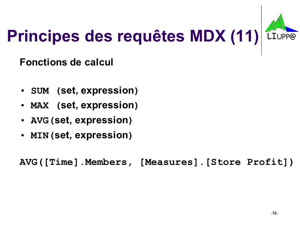 Principes des requêtes MDX (11)