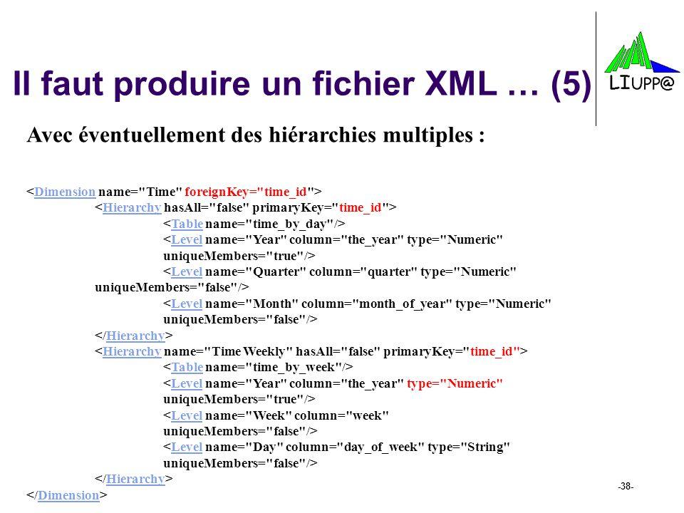 Il faut produire un fichier XML … (5)