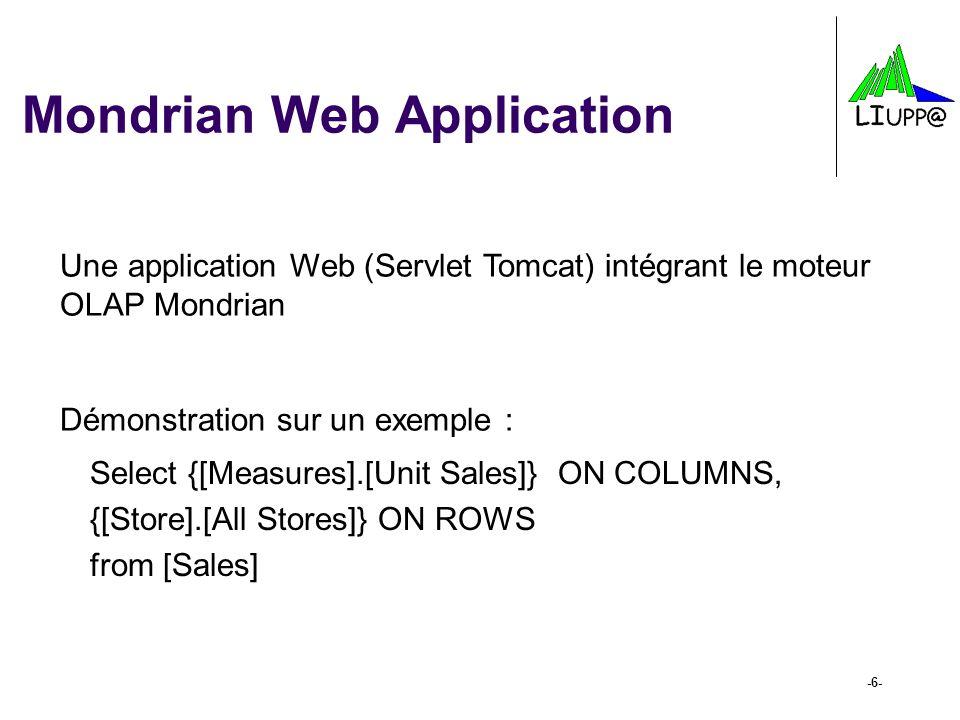 Mondrian Web Application