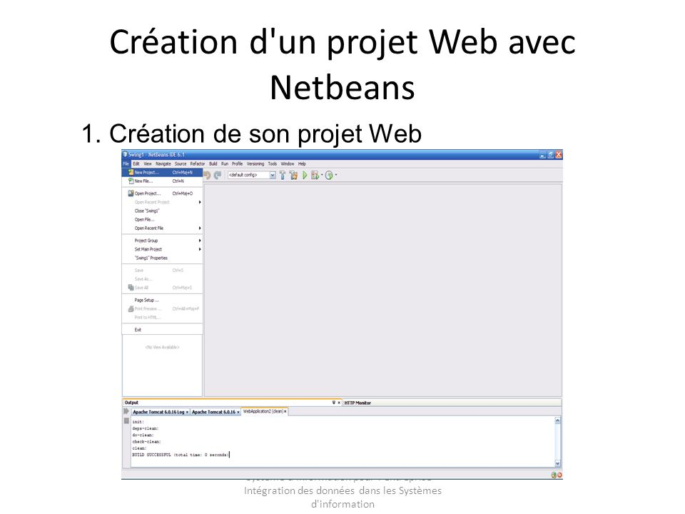Création d un projet Web avec Netbeans