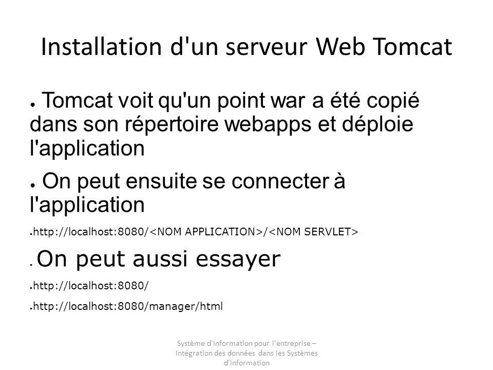 Installation d un serveur Web Tomcat