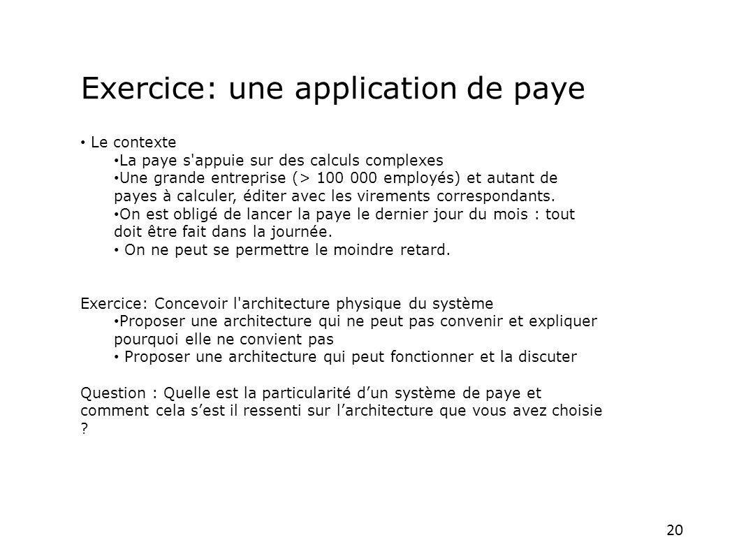 Exercice: une application de paye