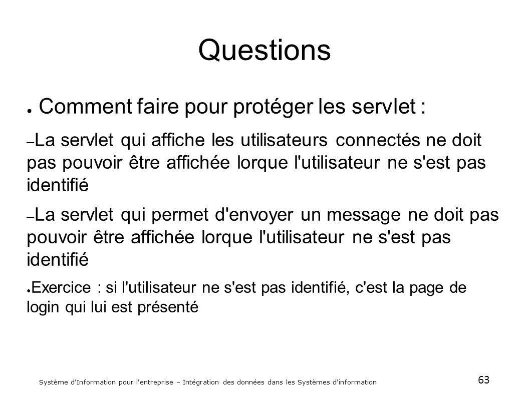 Questions Comment faire pour protéger les servlet :
