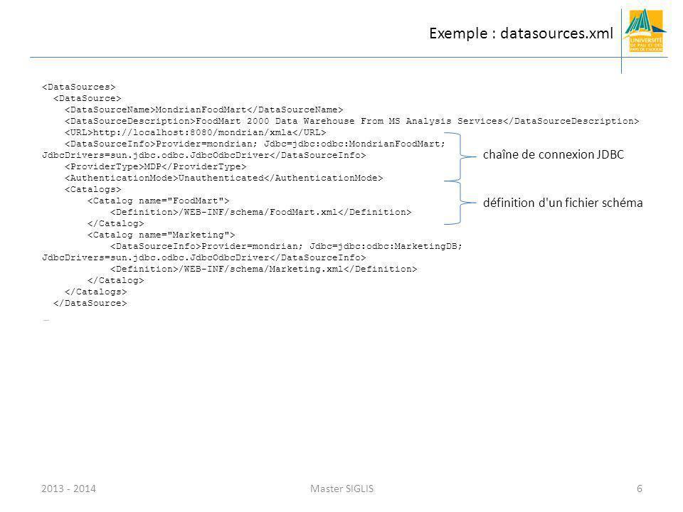 Exemple : datasources.xml