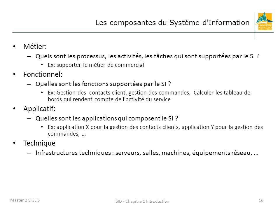 SID - Chapitre 1 Introduction