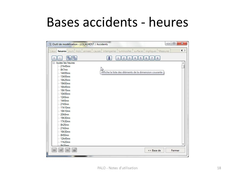 Bases accidents - heures