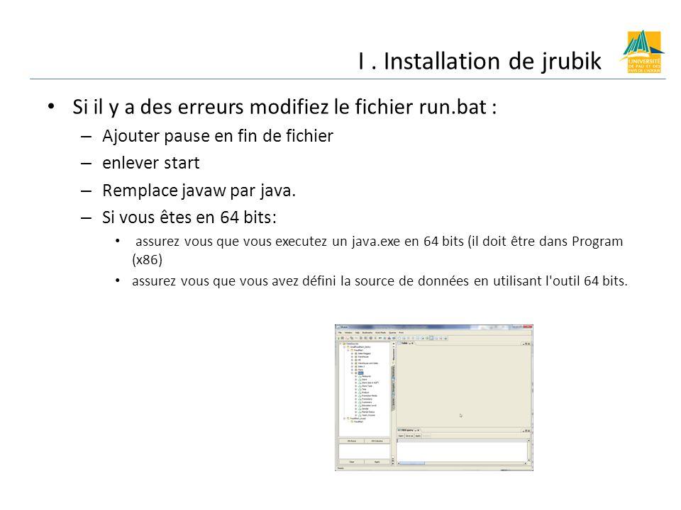 I . Installation de jrubik