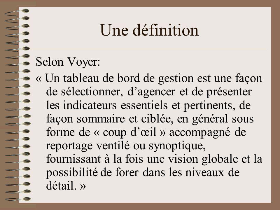 Une définition Selon Voyer: