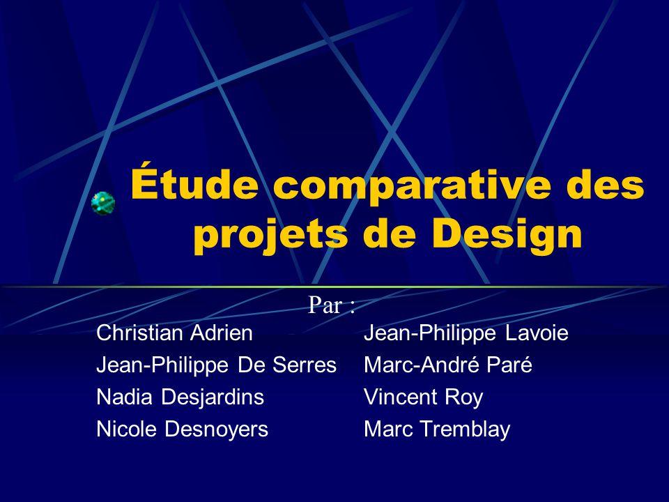 Étude comparative des projets de Design