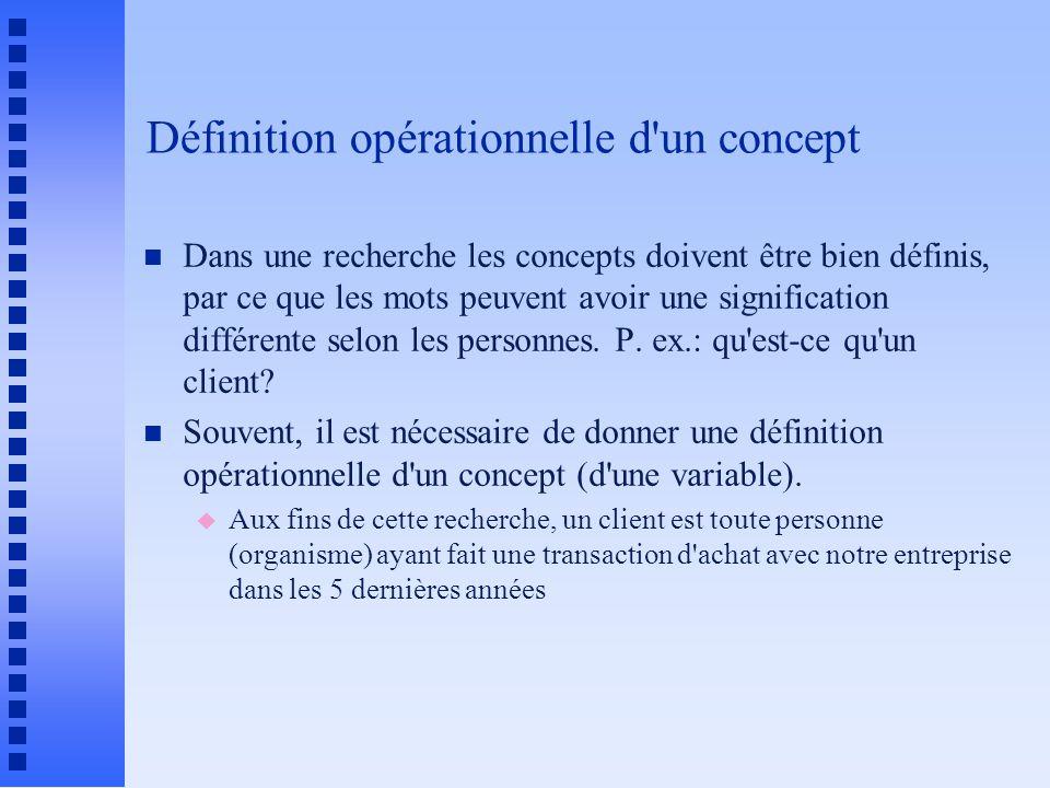 Définition opérationnelle d un concept