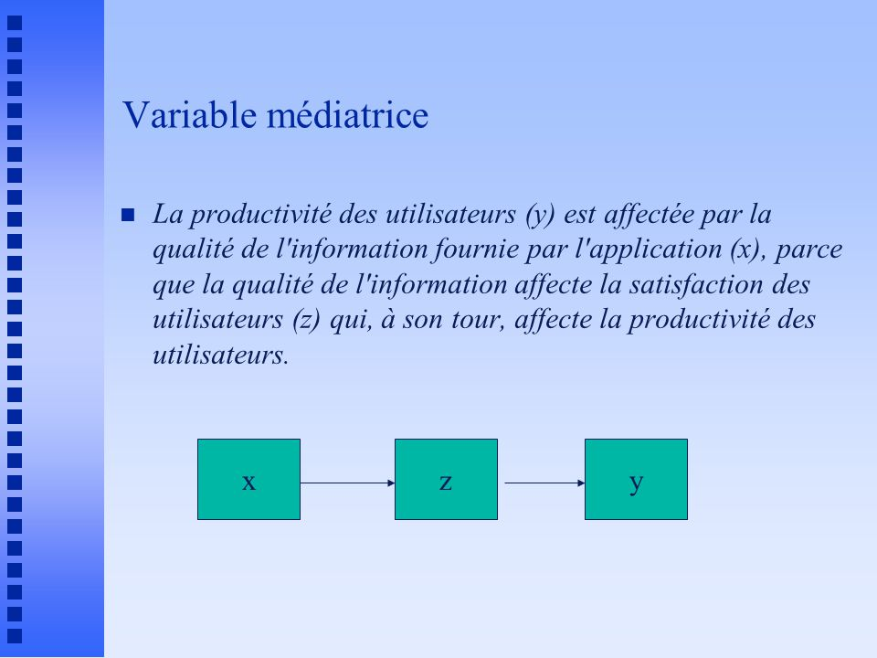 Variable médiatrice