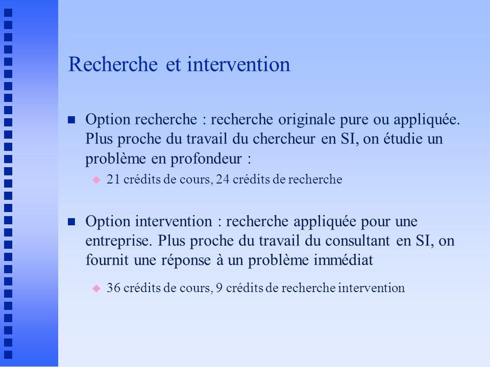 Recherche et intervention