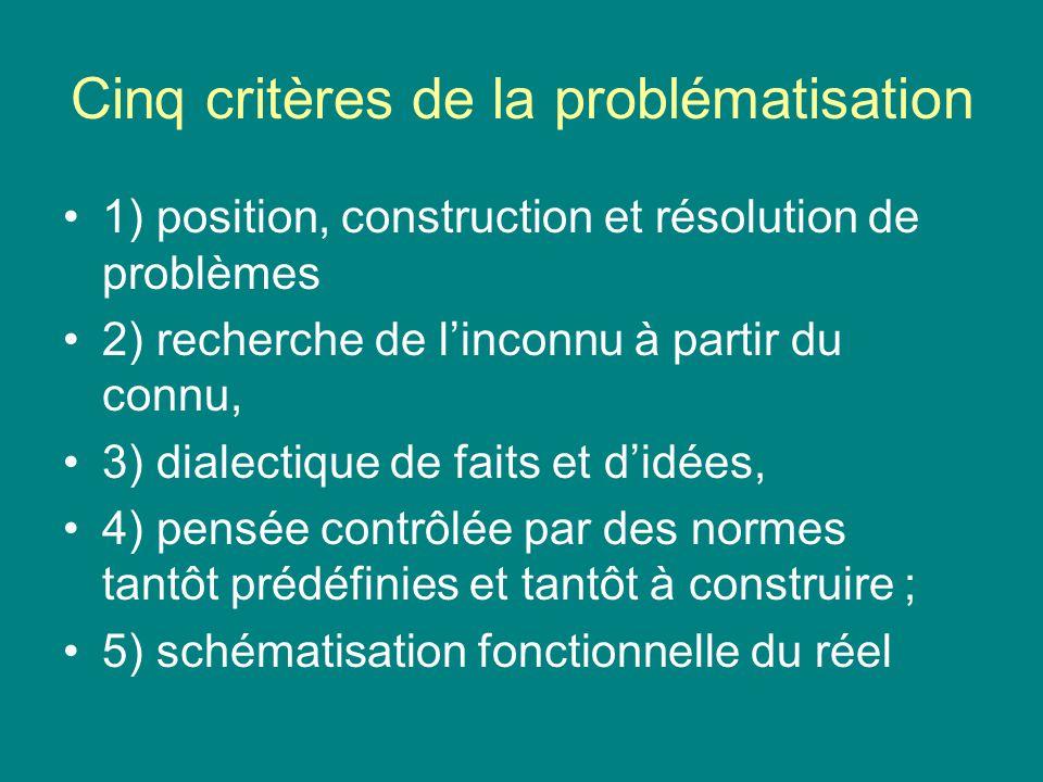 Cinq critères de la problématisation