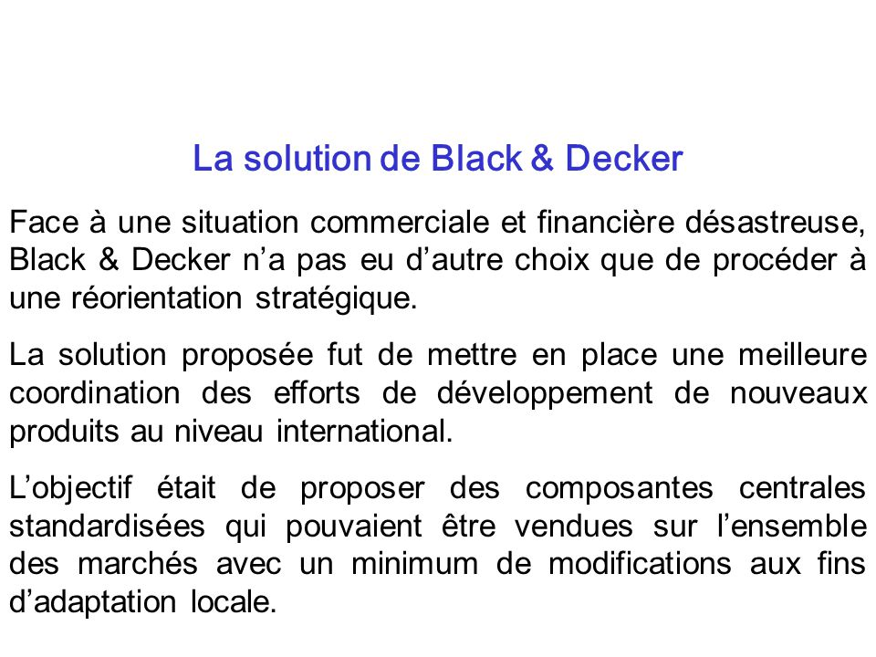 La solution de Black & Decker