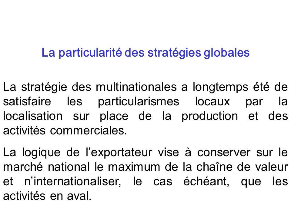 La particularité des stratégies globales