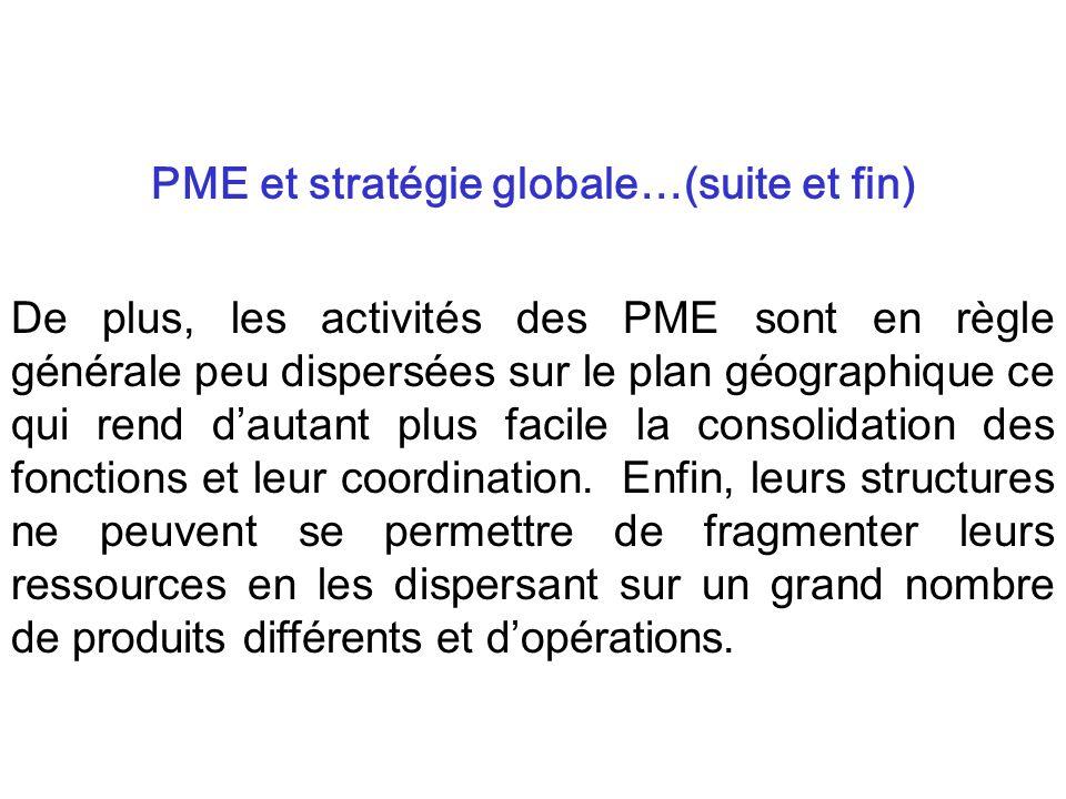 PME et stratégie globale…(suite et fin)