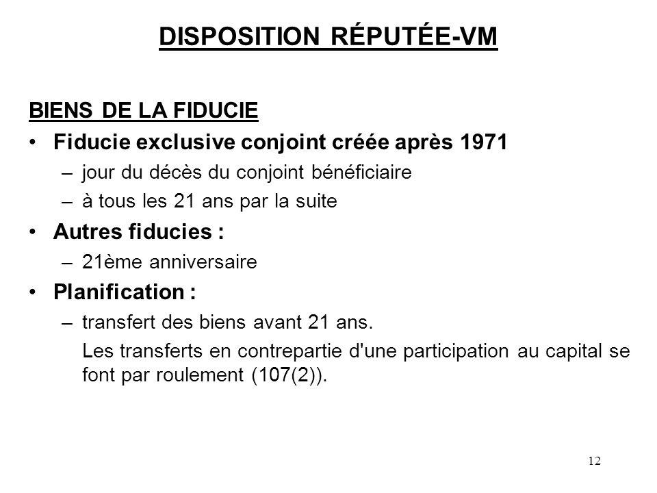 DISPOSITION RÉPUTÉE-VM