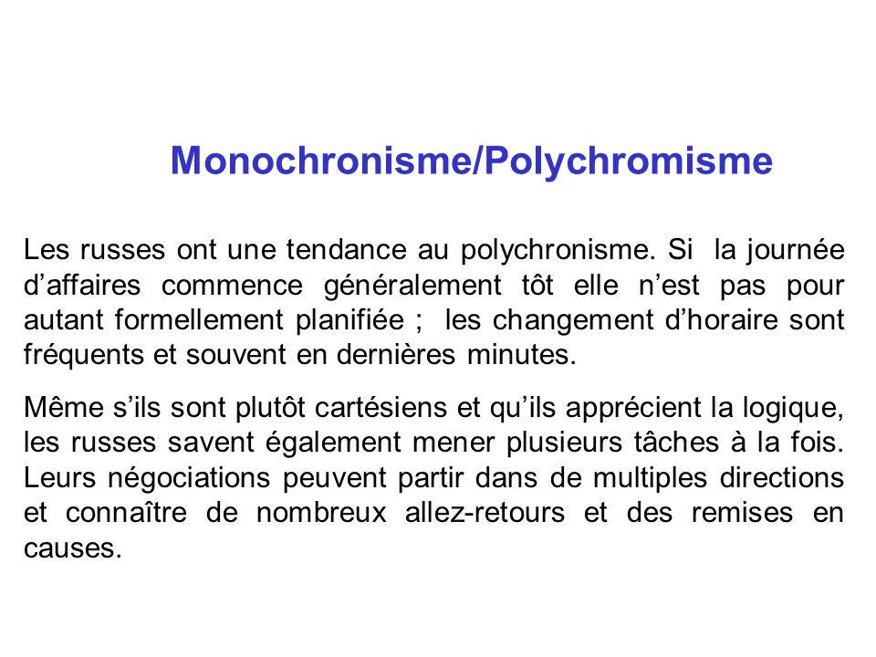 Monochronisme/Polychromisme