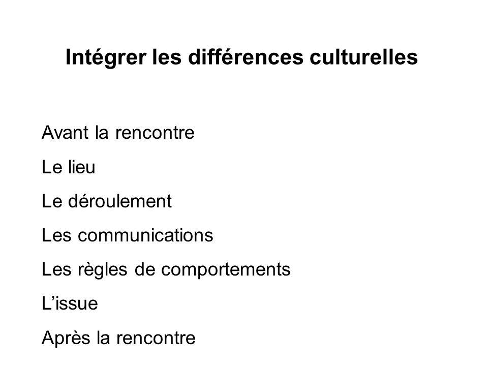 Intégrer les différences culturelles