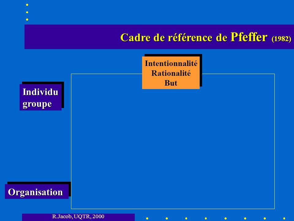 Cadre de référence de Pfeffer (1982)