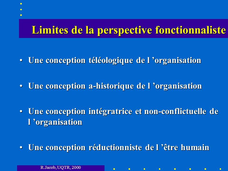 Limites de la perspective fonctionnaliste