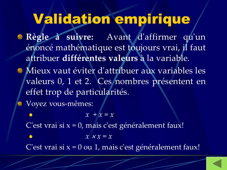 Validation empirique