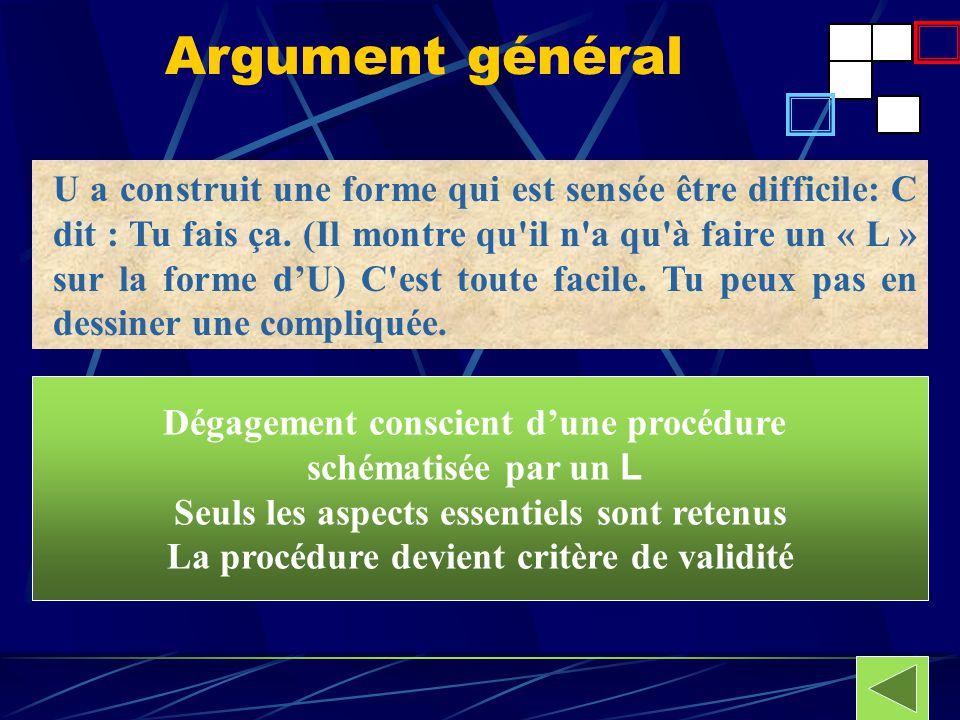 Argument général