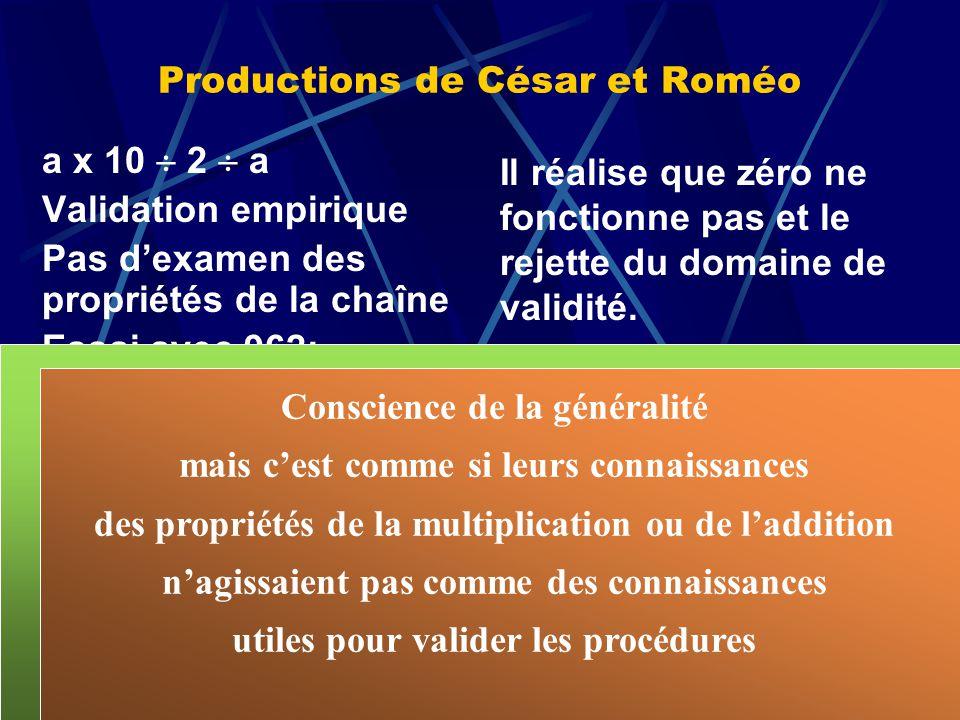 Productions de César et Roméo