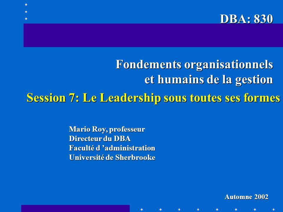 Fondements organisationnels et humains de la gestion
