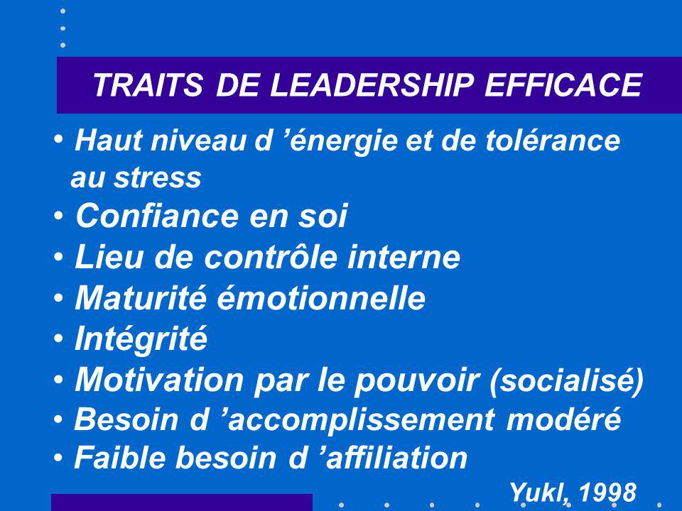 TRAITS DE LEADERSHIP EFFICACE