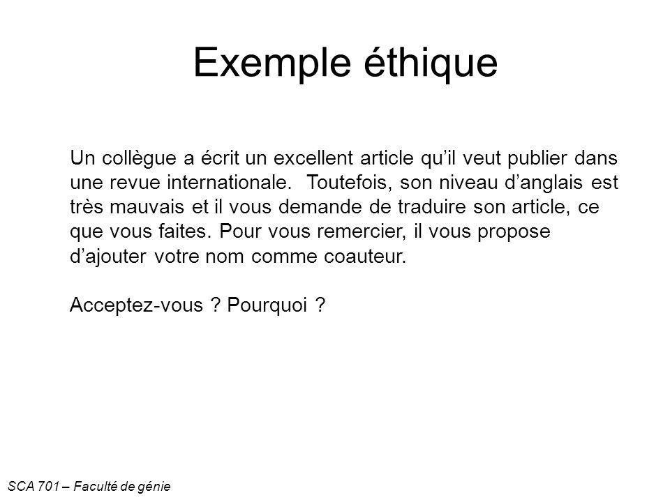 Exemple éthique