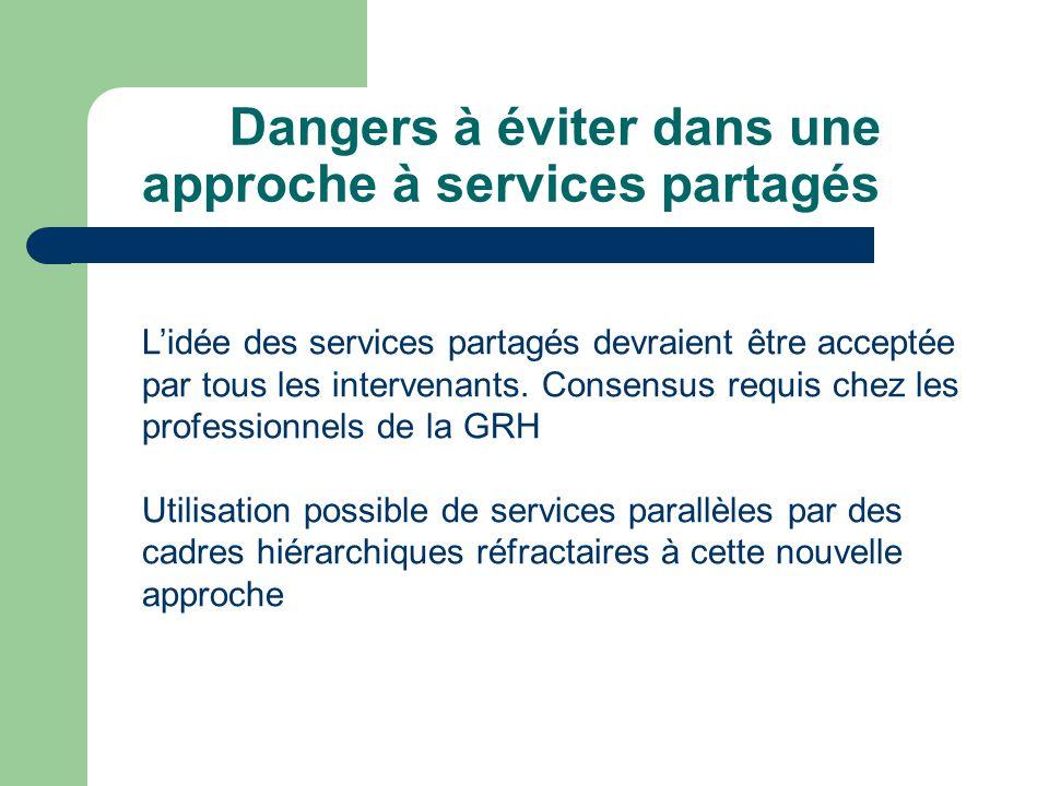 Dangers à éviter dans une approche à services partagés