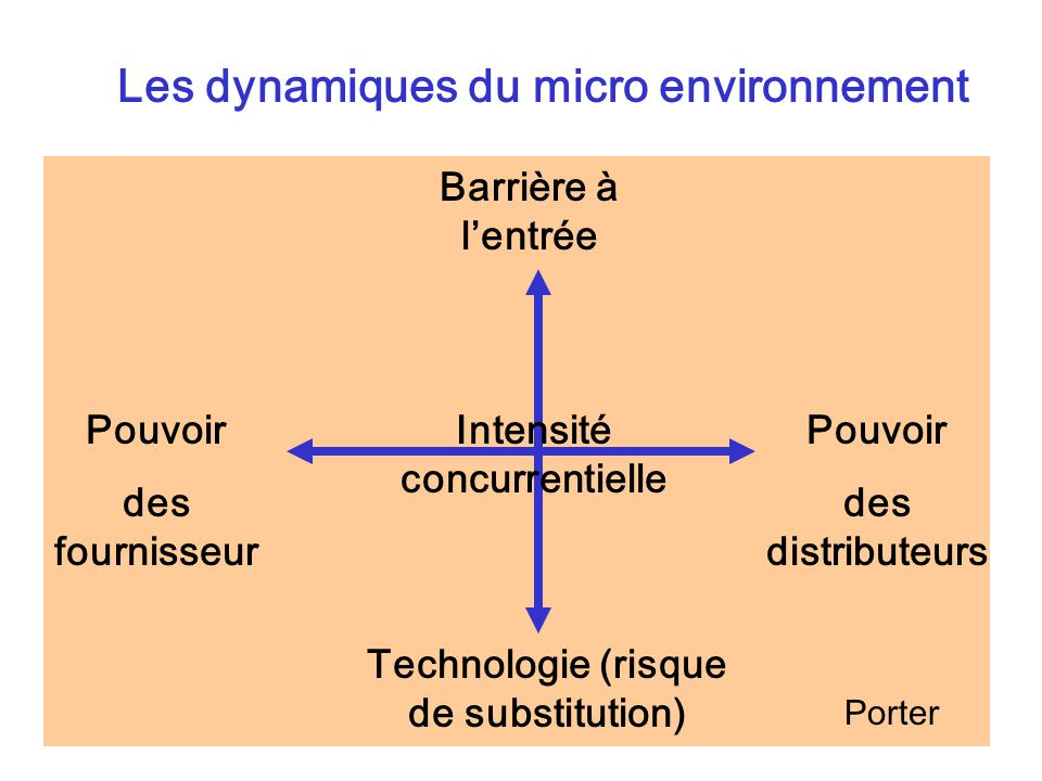 Les dynamiques du micro environnement