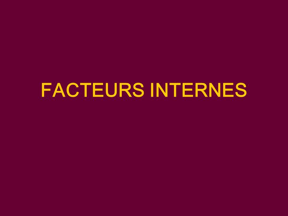 FACTEURS INTERNES