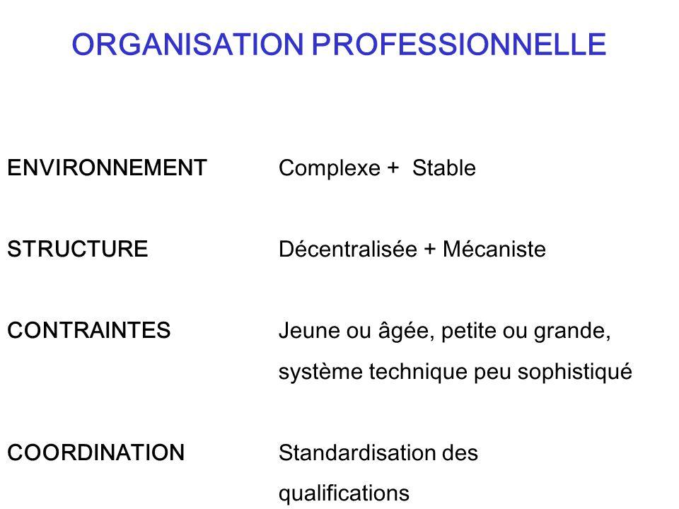 ORGANISATION PROFESSIONNELLE