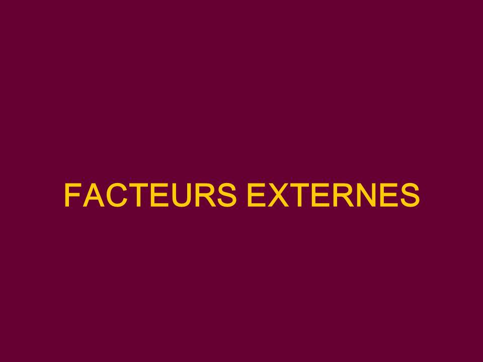 FACTEURS EXTERNES