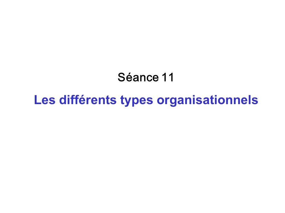 Les différents types organisationnels