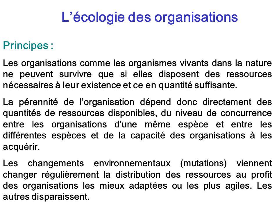 L'écologie des organisations