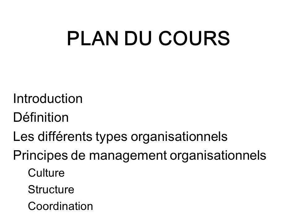 PLAN DU COURS Introduction Définition