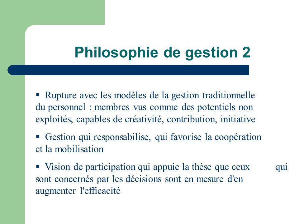 Philosophie de gestion 2