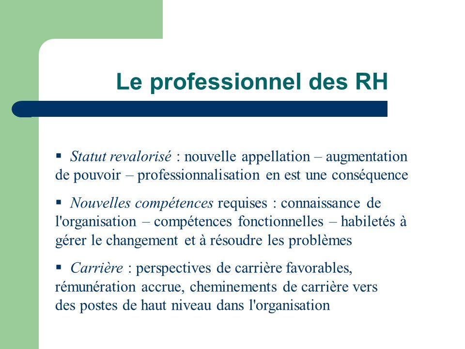Le professionnel des RH