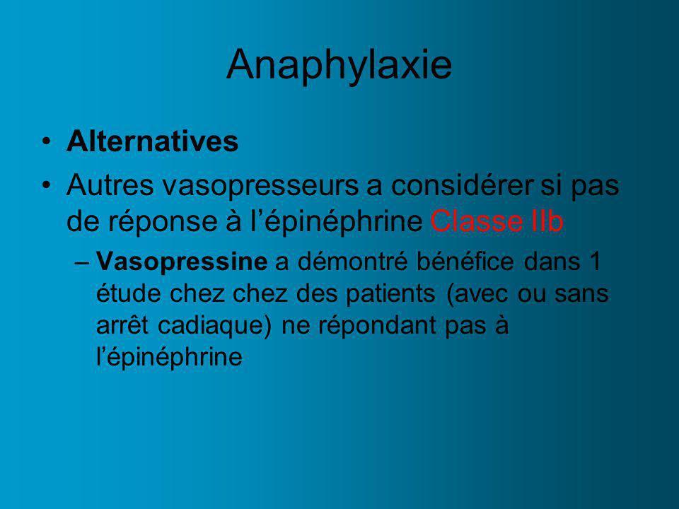 Anaphylaxie Alternatives